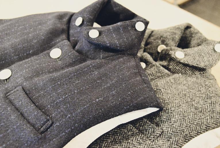 harris tweed down vest gazou1