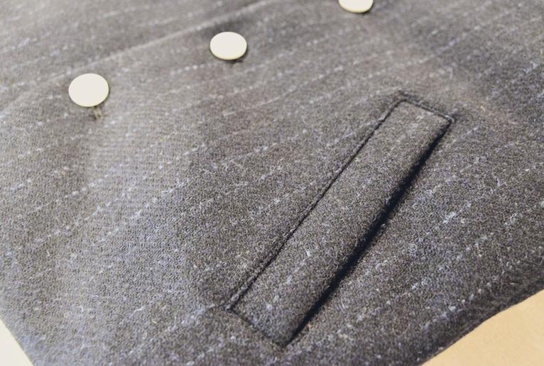 harris tweed down vest gazou4